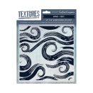 Crafters Companion Textures Elements 8x8 Embossing Folder - Wind