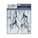 Crafters Companion Textures Elements 8x8 Embossing Folder - Lightning