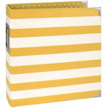 Simple Stories Snap Designer Binder 6X8 - Yellow Stripe