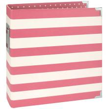 Simple Stories Snap Designer Binder 6X8 - Pink Stripe