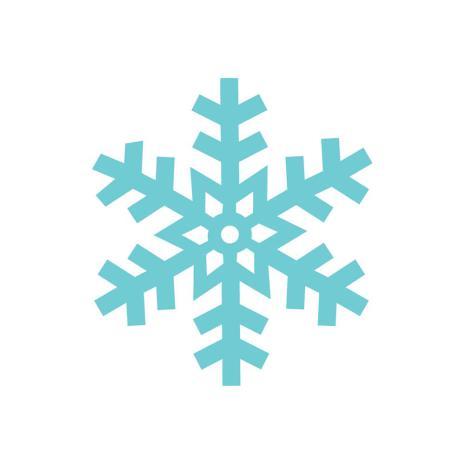 Doodlebug Mini Icons Stickers 100/Roll - Snowflakes UTGÅENDE