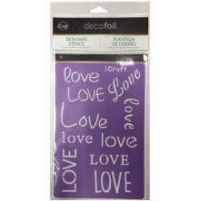 Thermoweb Deco Foil Stencils 6X9 - Love