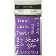 Thermoweb Deco Foil Stencils 6X9 - Thanks