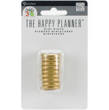 Me & My Big Ideas Planner Discs 9/Pkg - Gold
