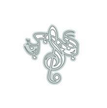 Tonic Studios Rococo Petite Music - Treble Clef 1182E