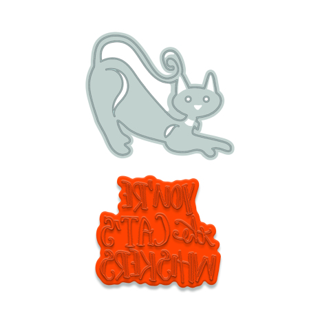 Tonic Studios Rococo Petite Pampered Pets Die & Stamp Set - Kittens Whiskers  1