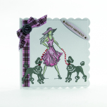 Tonic Studios Rococo Petite Pampered Pets Die & Stamp Set - Pawsome Poodle