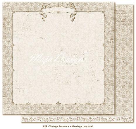 Maja Design Vintage Romance 12X12 - Marriage proposal