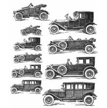 Tim Holtz Cling Stamps 7X8.5 - Vintage Auto