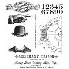 Tim Holtz Cling Stamps 7X8.5 - Dapper