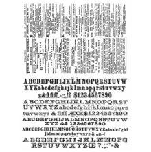 Tim Holtz Cling Stamps 7X8.5 - Newsprint & Type