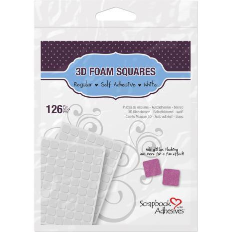 Scrapbook Adhesives 3L 3D Self-Adhesive Foam Squares 126/Pkg - White