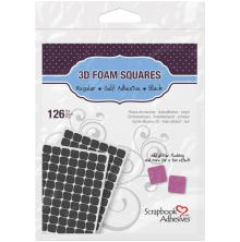 Scrapbook Adhesives 3L 3D Self-Adhesive Foam Squares 126/Pkg - Black
