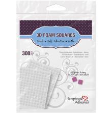 Scrapbook Adhesives 3L 3D Self-Adhesive Foam Squares 308/Pkg - White Mini