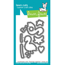 Lawn Fawn Custom Craft Die - Flamingo Together