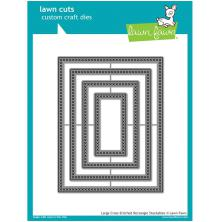 Lawn Fawn Custom Craft Die - Large Cross Stitched Rectangle Stackables