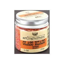 Prima Finnabair Art Ingredients Glass Beads 56gr - Rust