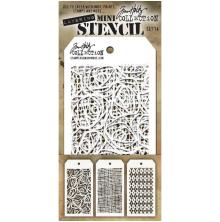 Tim Holtz Mini Layered Stencil Set 3/Pkg - Set 14