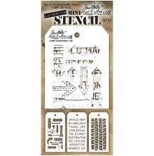 Tim Holtz Mini Layered Stencil Set 3/Pkg - Set 15