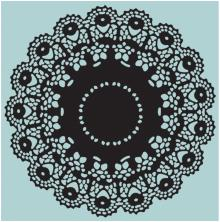 Tim Holtz Sizzix Texture Fades Embossing Folders - Doily