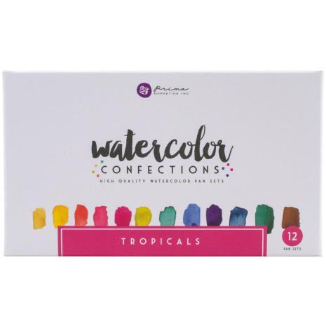 Prima Confections Watercolor Pans 12/Pkg - Tropicals
