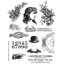 Tim Holtz Cling Stamps 7X8.5 - Ladies & Gentlemen