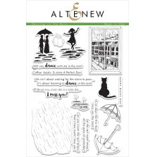 Altenew Layering Clear Stamps 6X8 17/Pkg - Dancing In The Rain