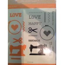 Diamond Press Stamp and Die Set - Handmade Love UTGÅENDE