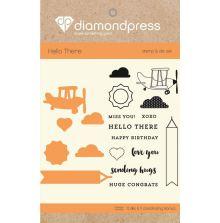Diamond Press Stamp and Die Set - Hello There UTGÅENDE
