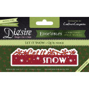 Crafters Companion Diesire Edgeables Cutting & Embossing Die - Let It Snow