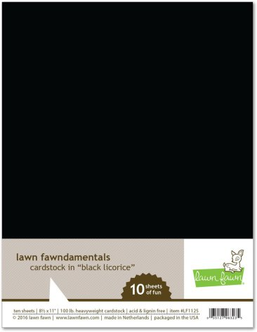 Lawn Fawn Cardstock - Black Licorice