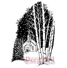 Deep Red Cling Stamp 3X2 - Christmas Eve UTGÅENDE