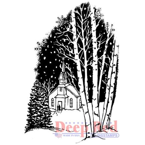 Deep Red Cling Stamp 3X2 - Christmas Eve