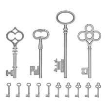 Tim Holtz Idea-Ology Metal Adornments - Silver Keys