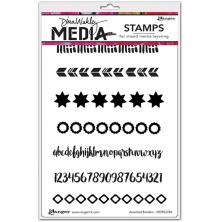 Dina Wakley Media Cling Stamps 6X9 - Assorted Borders