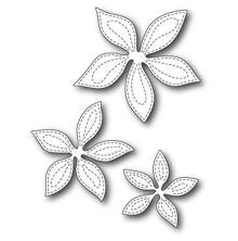 Poppystamps Die - Stitched Poinsettia Trio