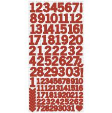 Kaisercraft Number Stickers 6X12 - Red