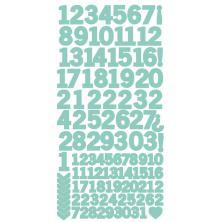 Kaisercraft Number Stickers 6X12 - Sea Green