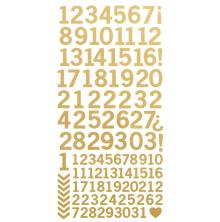 Kaisercraft Number Stickers 6X12 - Metallic Gold