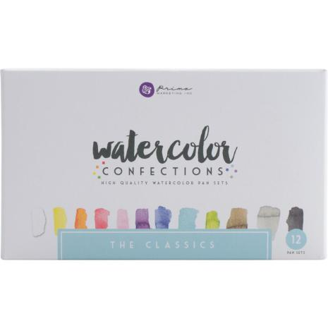 Prima Confections Watercolor Pans 12/Pkg - The Classics