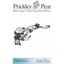 Prickley Pear Cling Stamps 3.25X3.25 - Leaf Flourish UTGÅENDE