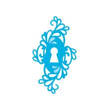 Tonic Studios Rococo Petite Die – Ornamental Keyhole 1293E