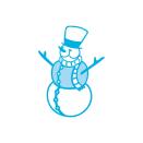 Tonic Studios Christmas Rococo Die – Joyful Snowman 1376E