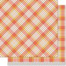 Lawn Fawn Perfectly Plaid Fall Double-Side Cardstock 12X12 -  Candy Corn