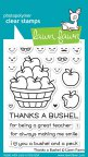 Lawn Fawn Clear Stamps 3X4 - Thanks A Bushel