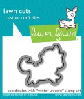 Lawn Fawn Custom Craft Die - Winter Unicorn