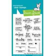 Lawn Fawn Clear Stamps 3X4 - Tiny Tag Sayings