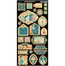 Graphic 45 Chipboard Die-Cuts 6X12 2/Pkg - Cafe Parisian Decorative UTGÅENDE