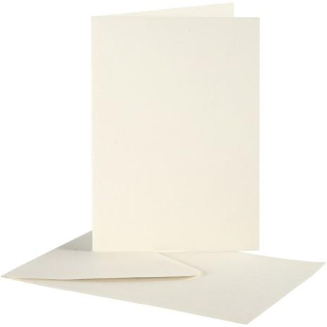 Brevkort 10,5x15 cm med kuvert 10 set - Off-White