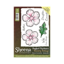 Sheena Douglass Country Cottage Stamp - Classic Carnations UTGÅENDE
